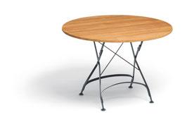 WEISHÄUPL Classic Tisch rund 95 cm  Latten - Teakholz