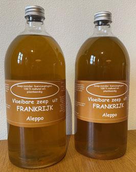 Vloeibare zeep Aleppo, set van 2 flessen  (1000 ml per stuk voor navulling)
