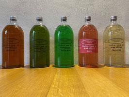 Vloeibare Marseille zeep, set van 2 flessen (1000ml per stuk voor navulling)