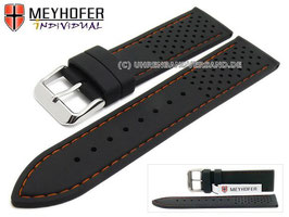 MEYHOFER Silikonband Racing-Orange 18 mm