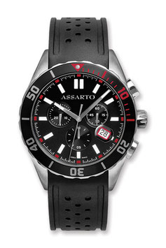 SEAPEARL-CHRONO-SERIES ASH-9824WRU-BLK Taucher-Chronograph