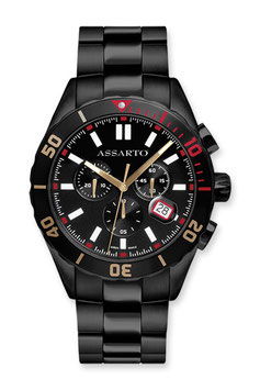 SEAPEARL-CHRONO-SERIES ASH-9824BK-BLK Taucher-Chronograph