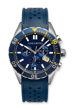 SEAPEARL-CHRONO-SERIES ASH-9824RU-BLU Taucher-Chronograph