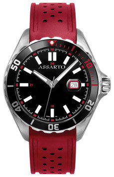 SEAPEARL SERIES ASH-9324W/RU-RED Taucheruhr Herren