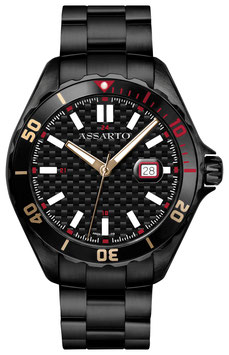 SEAPEARL STAR-SERIES ASH-9324BK/B-CARBON Taucheruhr Herren
