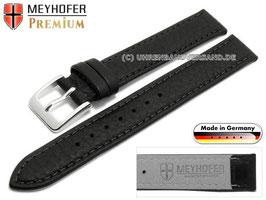 MEYHOFER Echtlederarmband schwarz 15 mm