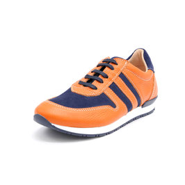 Hobo Pluto Ledersneaker orange/blue