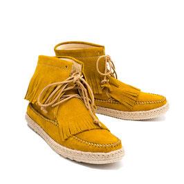 Hobo Leder-Mokassins gelb