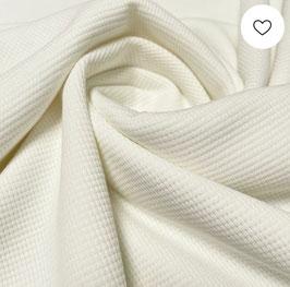 Waffel-Jersey weiß