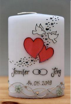 Hochzeitskerze Herzen