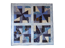 Babyquilt in crazy patchwork