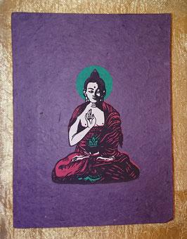 Bloc note bouddha violet