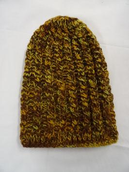 Bonnet en laine coloré, brun