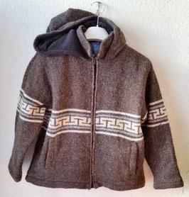 Veste laine doublée polaire, brune