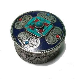 Boîte à bijoux Mandala, lapis