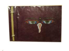 Album Photos grenat, avec yeux Bouddha