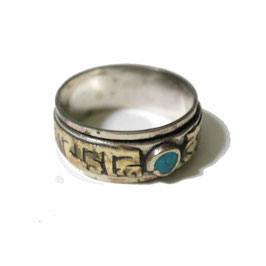 Bagues Mandala, pierre bleu