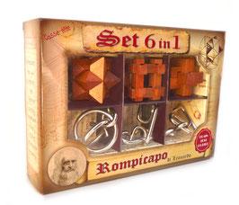 SET 6 IN 1 Serie Leonardo - 3 in legno + 3 in metallo
