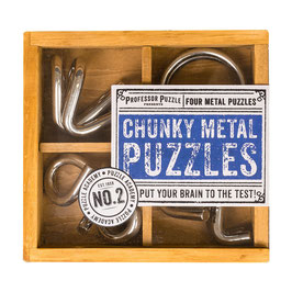 SET METALLO 4 IN 1 - CHUNKY METAL PUZZLES