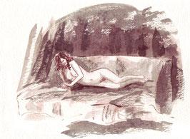 Am Morgen - A4 - Tusche auf Aquarellpapier