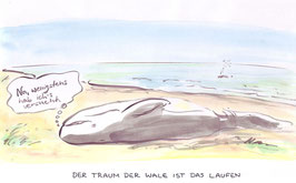Traum der Wale - Format A4  - auf Papier