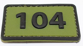 104 Commandotroepencompagnie patch (olive)