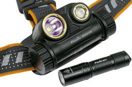Fenix HM65R oplaadbare hoofdlamp met gratis Fenix E01 V2.0 zaklamp