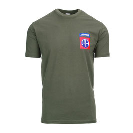 T-shirt US Army 82nd Airborne groen