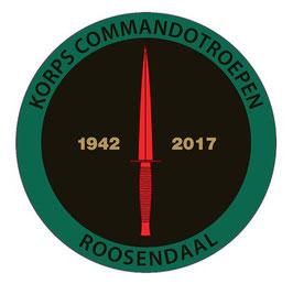 Korps Commandotroepen sticker KCT 1942-2017 (reünie)
