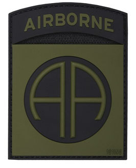 82nd Airborne patch 3D - groen