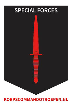Korps Commandotroepen sticker Special Forces
