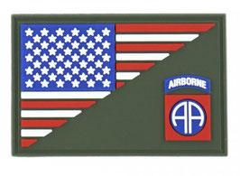 Embleem 3D PVC 82nd Airborne halve vlag