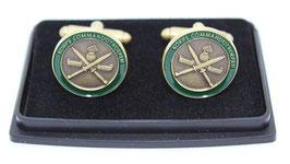 Korps Commandotroepen manchetknopen (per set) met groene rand
