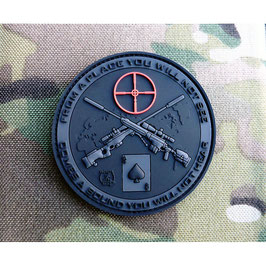 Sniper 3D rubber patch zwart