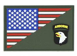Embleem 3D PVC 101st Airborne halve vlag