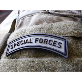 Special Forces rubber patch Battlegrey met velcro achterzijde