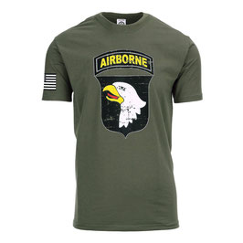 T-shirt US Army 101 Airborne groen