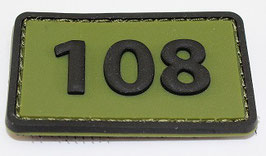 108 Commandotroepencompagnie patch (olive)