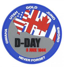 Embleem 3D PVC D-Day Never forget