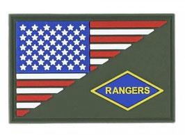 Embleem 3D PVC Rangers halve vlag patch