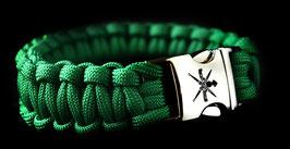 Korps Commandotroepen paracord met gelaserd KCT logo op clipsluiting - groen