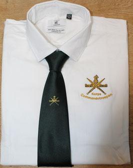 Wit overhemd met geborduurd KCT logo