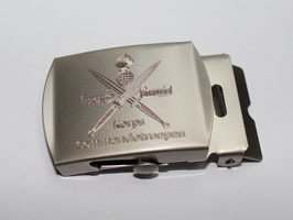Korps Commandotroepen gesp zilverkleurig gegraveerd
