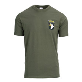T-shirt US Army 101st Airborne groen
