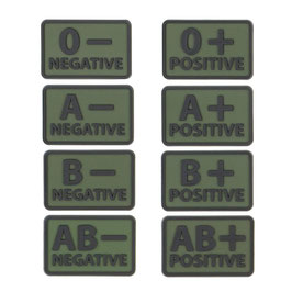 PVC Patch Blood Type (olive)