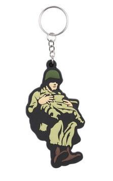 Sleutelhanger 3D PVC WWII Paratrooper