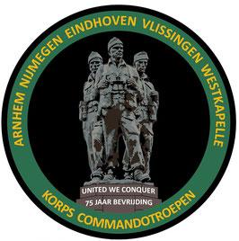 Korps Commandotroepen 75 jaar bevrijding Nederland badge