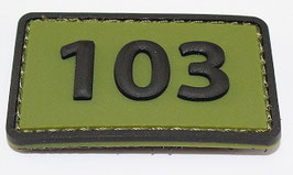 103 Commandotroepencompagnie patch (olive)