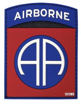 82nd Airborne patch 3D - rood/ blauw