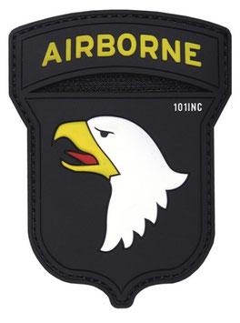 101st Airborne patch 3D - zwart/ kleur